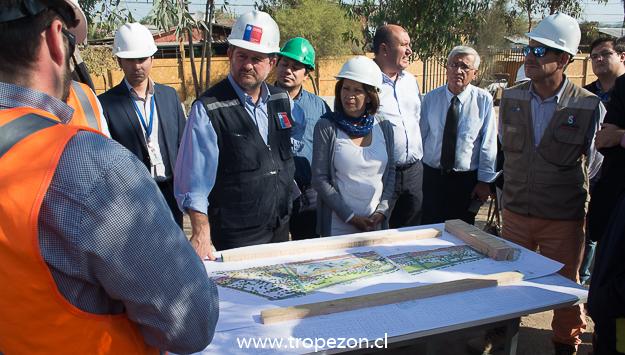 Intendente, autoridades locales y del Core en visita impositiva al parque Santiago Amengual
