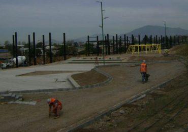 Avanzan los trabajos en parque Santiago Amengual de Pudahue