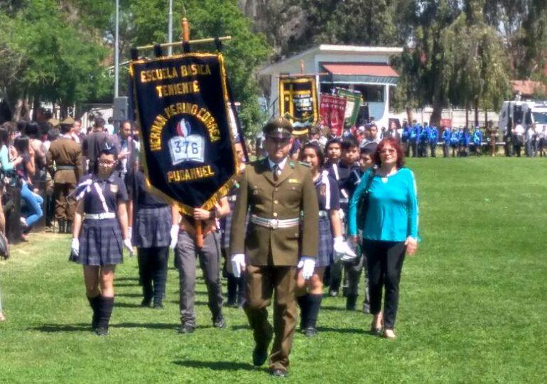 Carabineros y brigadas escolares de Pudahuel participaron en emotivo cierre de año