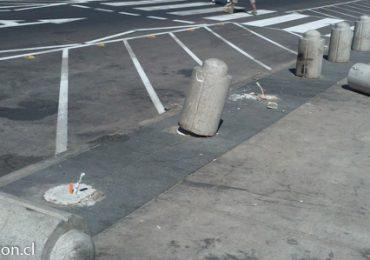 Conos de seguridad vial han sido removidos en parque Hondonada de Cerro Navia