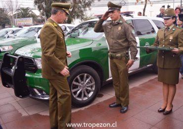 Con blindaje antibalas se incorporan nuevos vehículos a carabineros, en Pudahuel