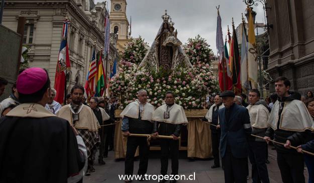 """""""Virgen del Carmen, enséñanos a estar de pie junto a la cruz de nuestros hermanos que han sido abusados"""""""