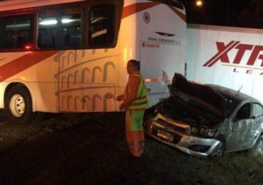 Alta Congestión vehicular en la ruta 68 por colisión múltiple en Pudahuel