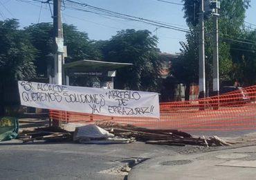 Continúan las protestas con bloqueos de calles en Pudahuel