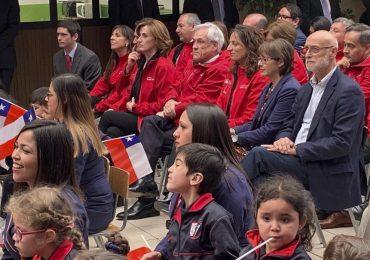 """Presidente Sebastián Piñera presenta plan """"Aprender a tiempo"""" en escuela de Pudahuel"""