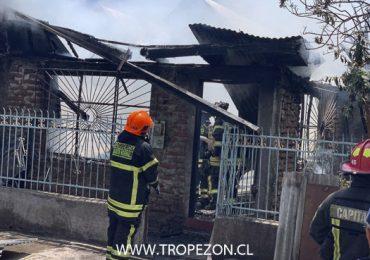 Incendio en casa habitación deja una persona muerta en Pudahuel