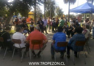 Cerca de cien vecinos participaron en cabildo ciudadano realizado en plaza de Armas de Pudahuel