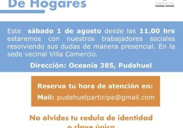 Pudahuel Participa y Villa Comercio invitan a operativo sobre Registro Social de Hogares