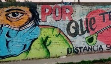 Pudahuel: Mesa Social por la Salud realiza mural para fomentar el autocuidado durante la pandemia
