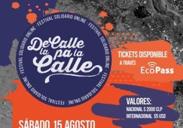 Colectivo De la Calle Pa la Calle organiza evento solidario online con más de 40 artistas nacionales