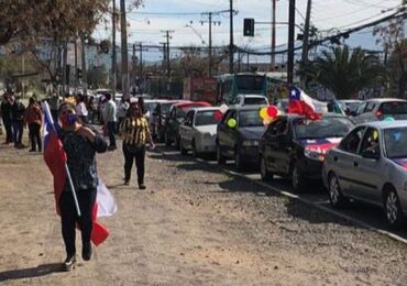 """Pudahuel: Unión comunal de Allegados """"Juntos Podemos"""" realiza masiva caravana por el """"Apruebo"""""""