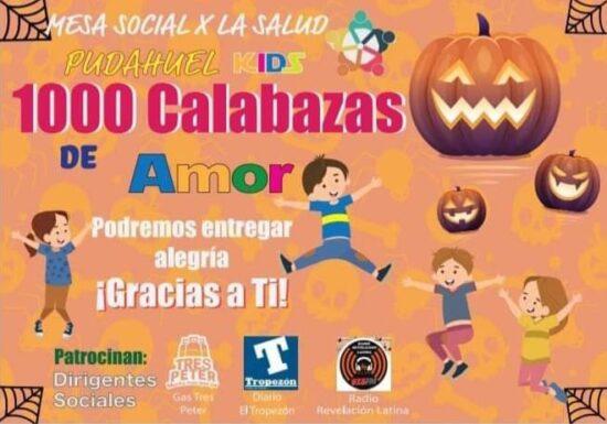 1000 Calabazas de amor: Campaña de recolección de dulces para entregar el 31 de octubre