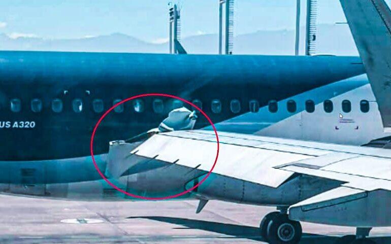 Dos aviones chocaron en la zona de embarque del aeropuerto de Pudahuel
