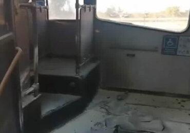 Lanzan bomba incendiaria al interior de bus de transporte público en Pudahuel