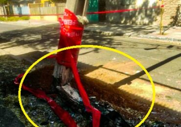 Calle permanece cortada por riesgo de caída de poste de cables eléctricos en Cerro Navia