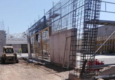 Avanza la construcción de sucursal bancaria incendiada en Cerro Navia
