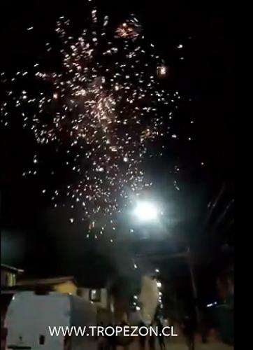 Se promulga ley para quienes disparan fuegos articules en Pudahuel, Cerro Navia y el resto del país serán sancionados con cárcel