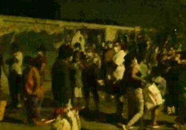 Tenso momento: Vecinos enfrentan a personas que intentaron tomarse terreno en Cerro Navia