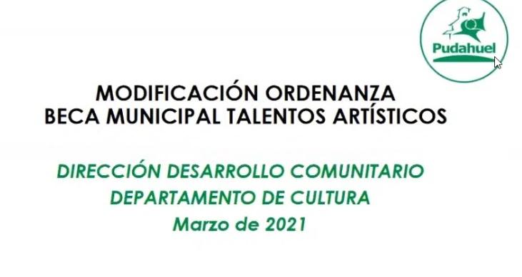 Municipalidad de Pudahuel busca mejorar beca de talentos artísticos