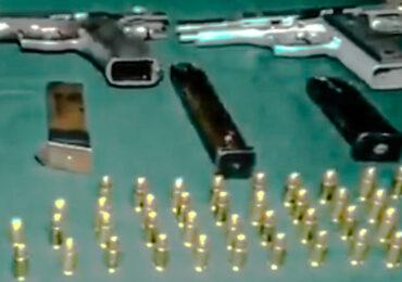 Dos personas detenidas por portar poderoso armamento y munición en Pudahuel