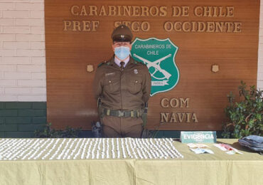 Carabinero detiene a sujetos con más de 600 envoltorios de droga en Cerro Navia