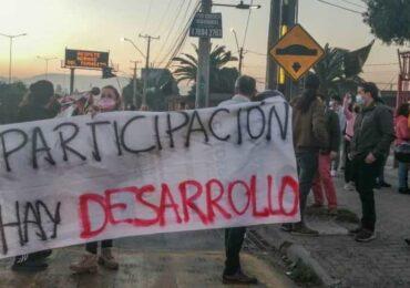 """""""Apoyamos demanda de No a Vespucio Norte"""": Alcalde electo de Pudahuel apoya protesta de vecinos en Ruta 68"""