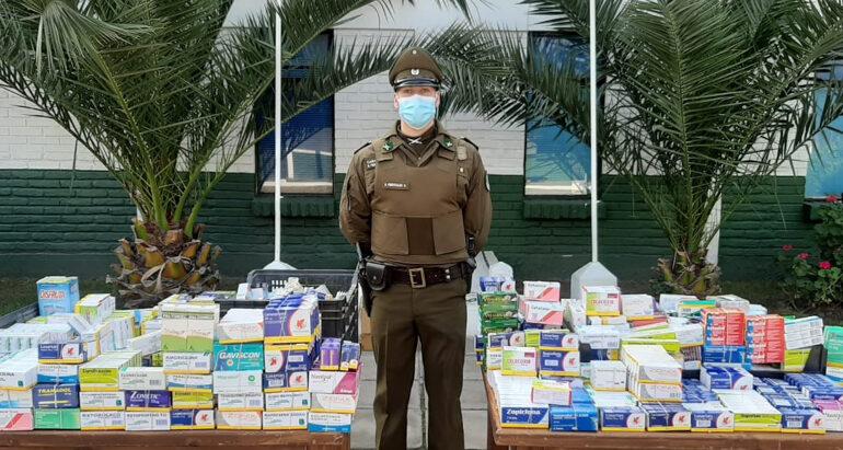 Más de diez mil comprimidos de diversos fármacos son incautado en Persa Teniente Cruz de Pudahuel
