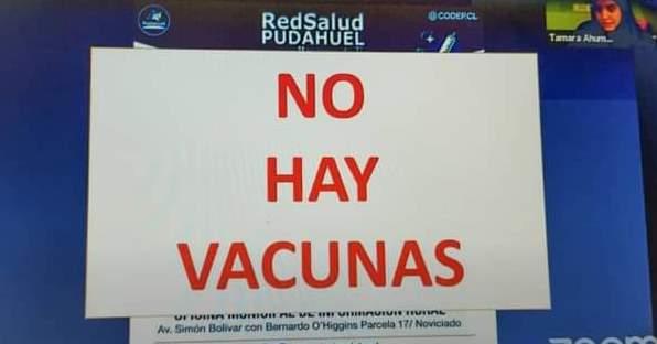 """Directora de salud en Concejo Municipal: """"No hay vacunas en Pudahuel"""""""