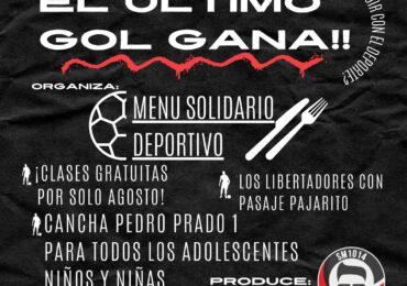"""""""Menú Solidario Deportivo"""" realiza taller de fútbol gratuito en Pudahuel Sur"""