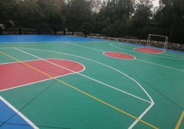 Club de básquetbol del INBA remodela cancha en Cerro Navia: Será un espacio abierto para toda la comunidad