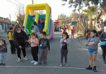 Con actividades recreativas infantil población Villa Pudahuel celebra el 18 septiembre