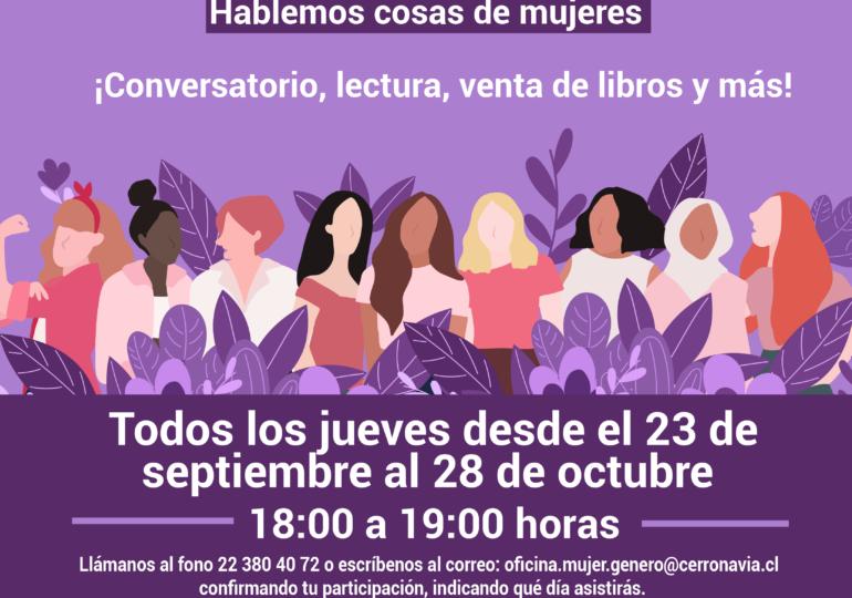 Mujeres de Cerro Navia podrán disfrutar de Café Literario al aire libre
