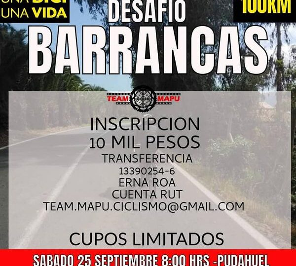 "Team Mapu Pudahuel organiza ""Desafío 100 km"" para ciclistas este 25 de septiembre"