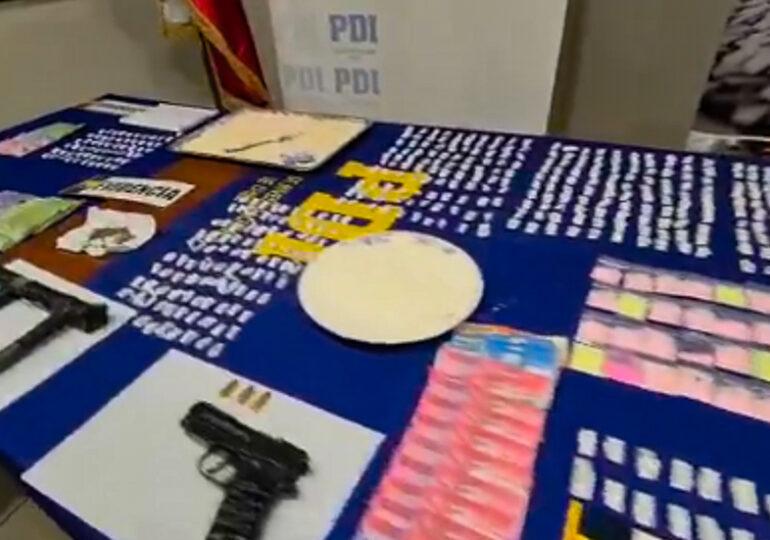 Incautan 4.4 kilos de droga ilícita y detienen a cinco sujetos en Cerro Navia
