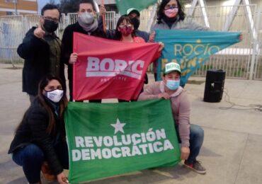 Candidatos de Apruebo Dignidad realizan banderazo en apoyo a Gabriel Boric en Pudahuel