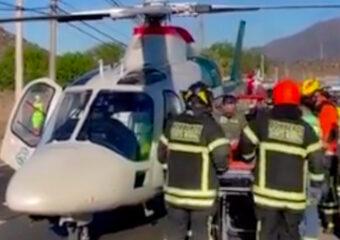 Motorista grave es evacuado vía aérea desde Pudahuel al chocar con barrera de contención