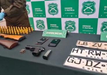 Carabineros captura a banda de delincuentes en Pudahuel que roban y clonan vehículos